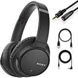 Sony Noise Cancelling Headphones WHCH700N - Wireless Bluetooth Over The Ear Headset with Mic for Phone-Call and Alexa Voice C