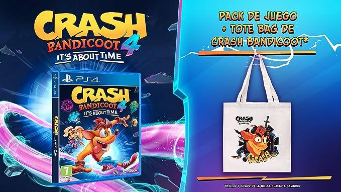 Crash Bandicoot 4: Its about time + Tote bag (PS4): Amazon.es: Videojuegos