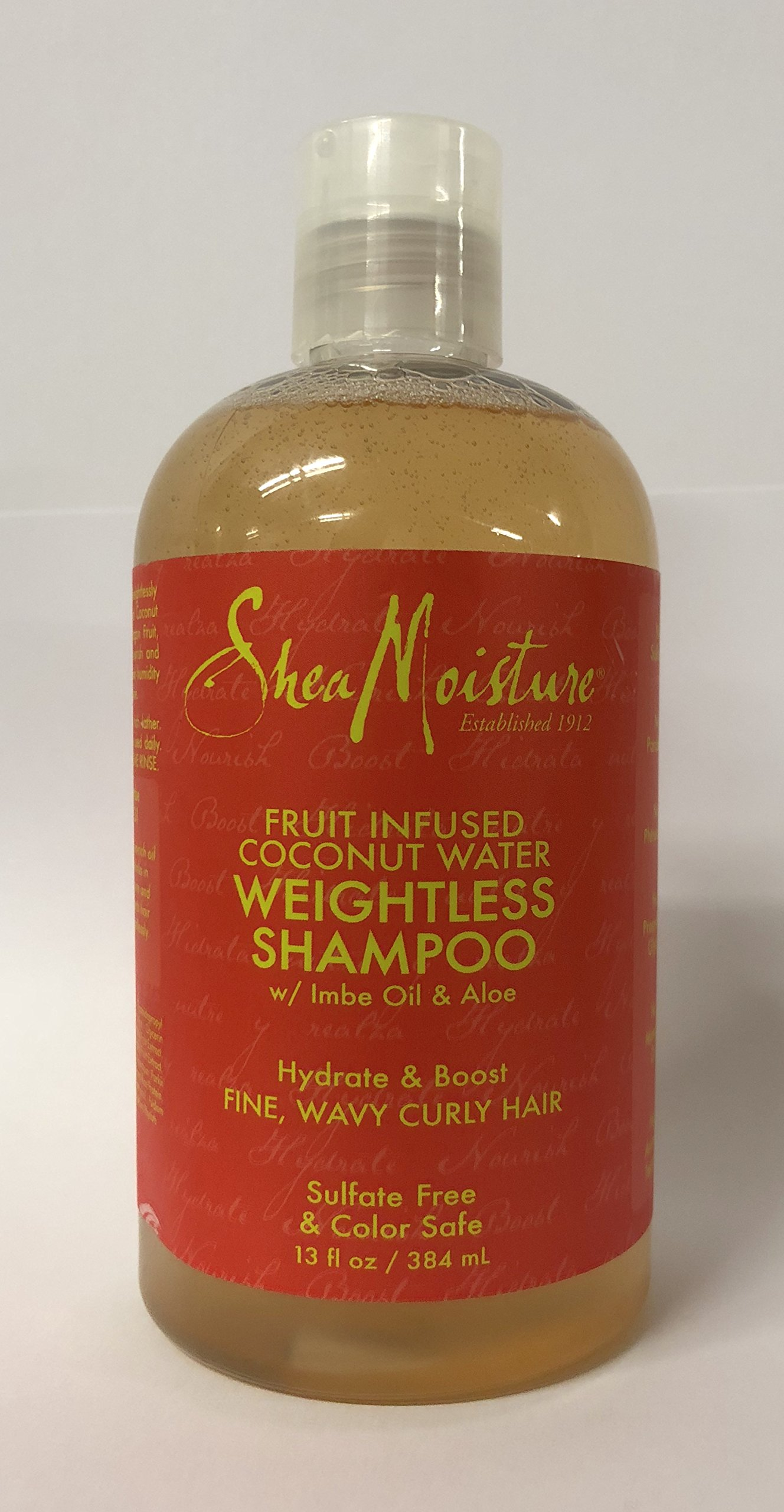 Shea Moisture Fruit Fusion Coconut Water Weightless Shampoo, 13 Ounce by Shea Moisture