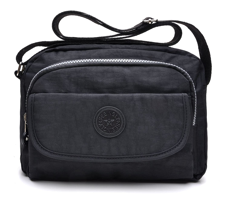 tuokener Cross body Bag Women Nylon Waterproof Womens Messenger Bags ... 8c8f28cf17863