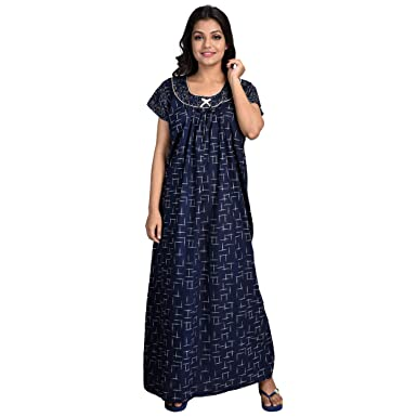 a9a4c12ece Piyali s Creation Women s Multicolor Coloured Cotton Made Night Dress  Nighty for Women s-PCW0000577  Amazon.in  Clothing   Accessories