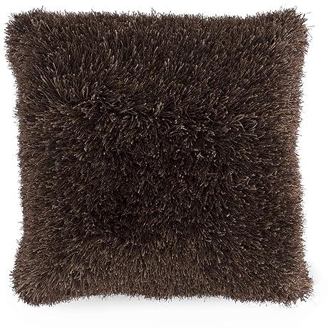 Amazon.com: Somerset Home Shag - Cojín de piel sintética ...