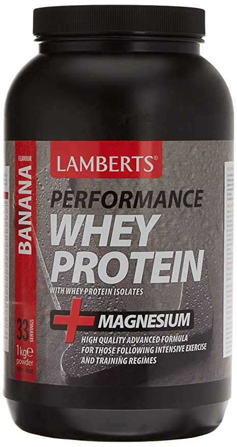 Lamberts Whey Protein Suplemento para Deportistas, Sabor a Plátano - 1000 gr