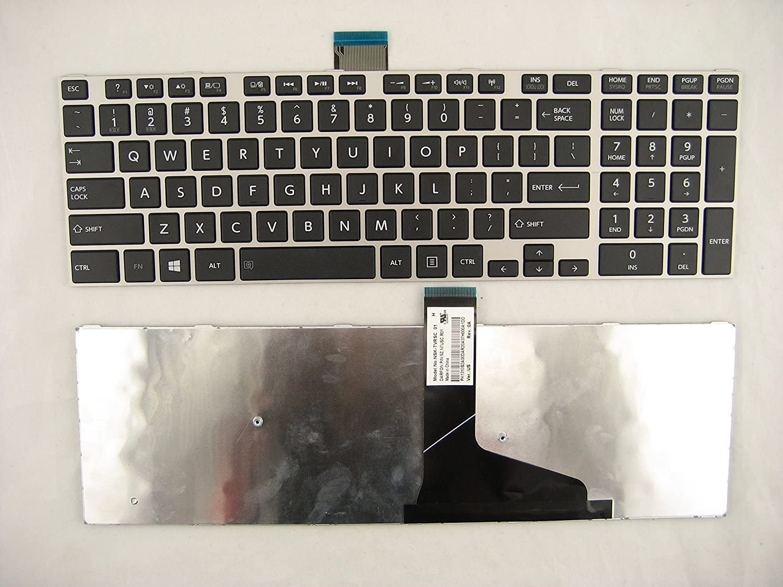 New US Black English Laptop Keyboard Replacement for Toshiba Satellite S55-A5139 S55-A5154 S55-A5164 S55-A5165 S55-A5167 S55-A5169 S55-A5176 S55-A5188 S55-A5197 S55-A5235 S55-A5257