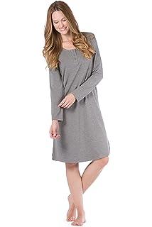 Fishers Finery Women s Ecofabric Henley Nightshirt  Long Sleeve  Below Knee e47f5eb04