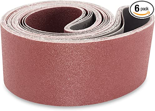 Lot of 5 Sanding Belts 25 x 48 Aluminum Oxide 100 Grit Lot of 5