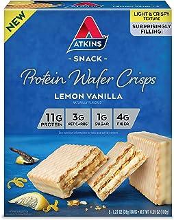 Atkins Protein Wafer Crisps, Lemon Vanilla, 5 Count