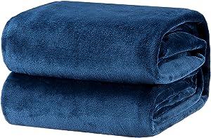 Bedsure Fleece Blanket King Size Navy Lightweight Super Soft Cozy Luxury Bed Blanket Microfiber