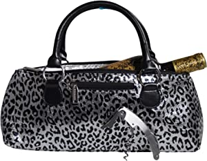 Primeware Wine Clutch Bag Thermal Insulated Wine Carrier Tote Holds Red and White Wine 750 Milliliter Bottle Includes Portable Waiter Style Corkscrew