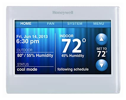 C Wire Thermostat | Honeywell Th9320wf5003 Wifi 9000 Color Touchscreen Thermostat Works