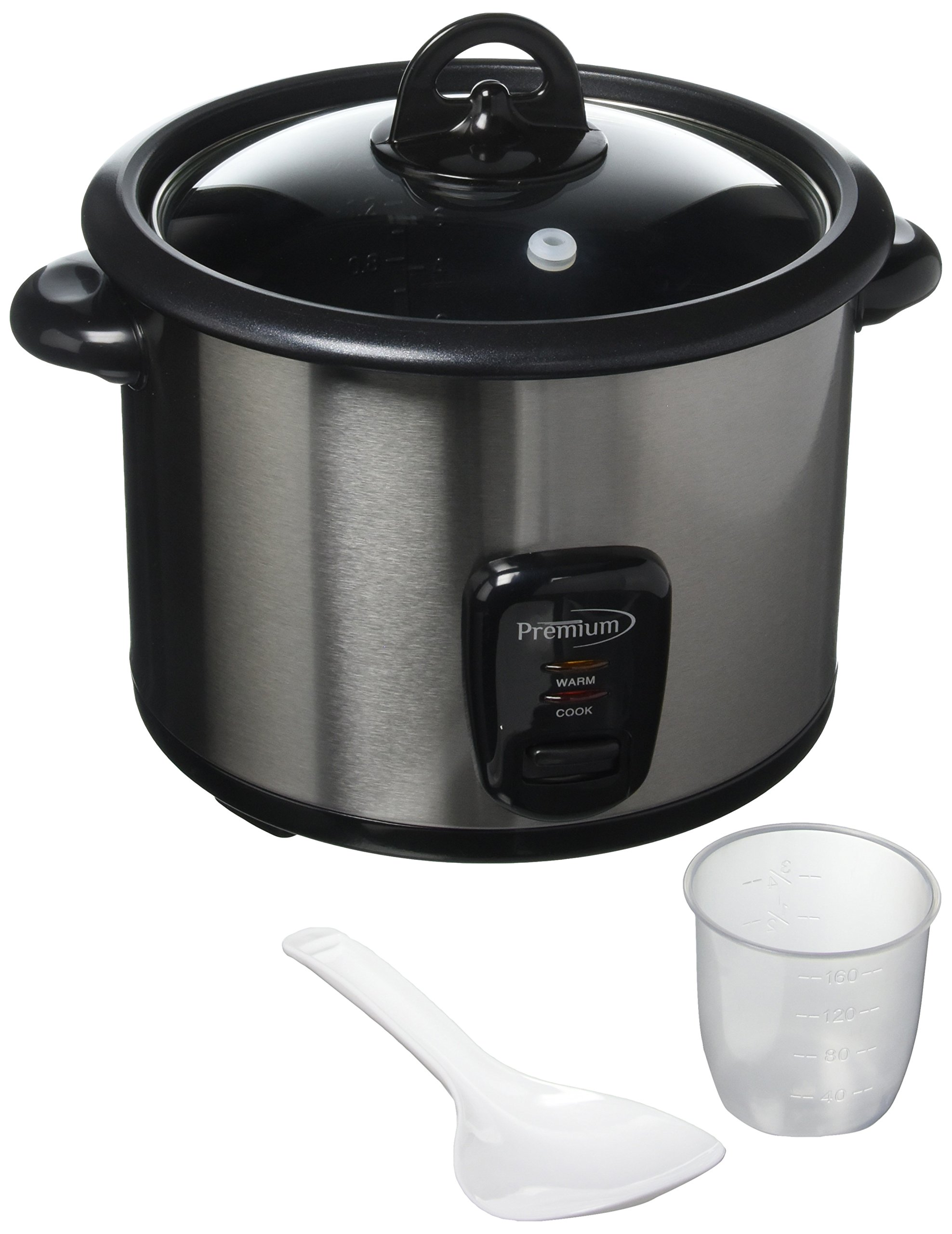 Premium PRC1547 8 Cup Deluxe Rice Cooker, Silver