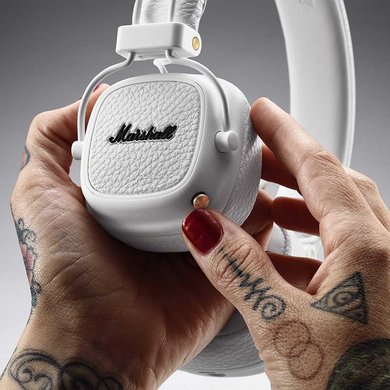 Marshall Major III Bluetooth Wireless OnEar Headphone White  New
