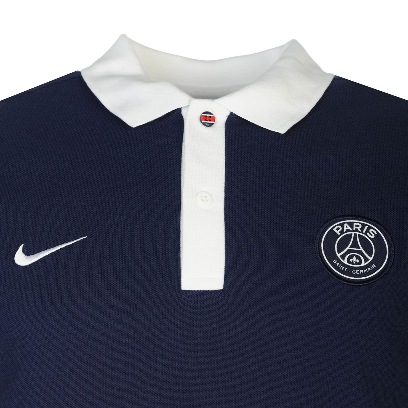 Nike Paris Saint Germain PSG Polo Camiseta para Hombre Azul Marino ...