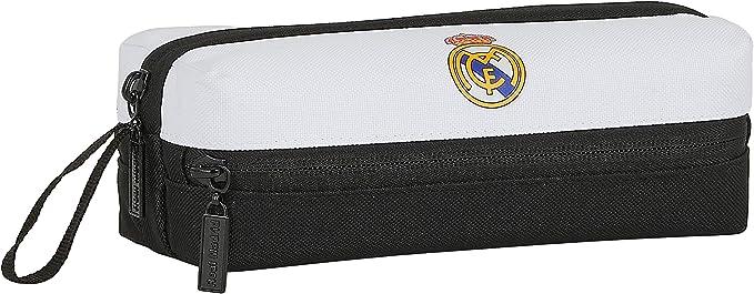 Safta- Real Madrid Portatodo, Color Blanco/Negro, 200x80x70 mm (M823): Amazon.es: Ropa y accesorios