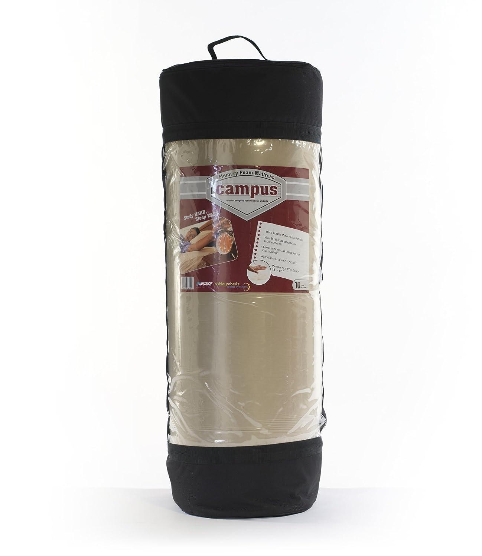 Kittrich Corporation Campus - Colchón de Espuma con Efecto Memoria de 17,78 cm con Bolsa Enrollable, Rosa, Plein: Amazon.es: Hogar