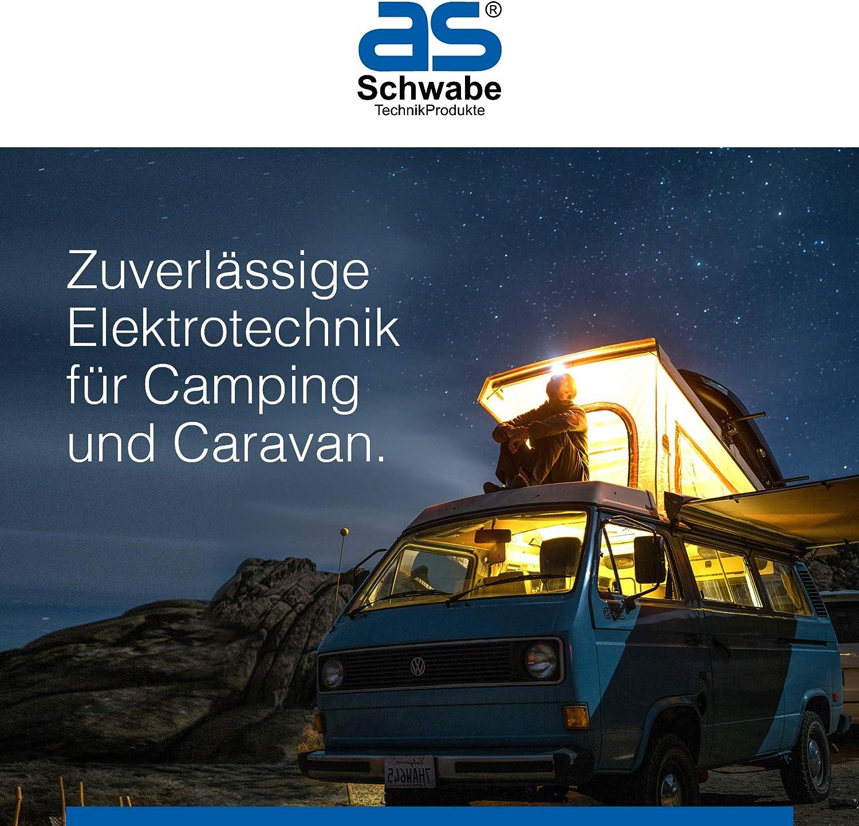 prise coud/ée - Prise pour caravane et camping-car Prise de camping pour ext/érieur Fiche CEE 3 broches IP44 I 61481 as-Schwabe Prise coud/ée CEE 230 V // 16 A // 3 broches