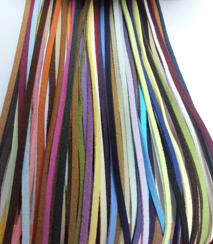 16 Pieces 1 Meter Length Multi-Color Faux Leather Friendship Bracelet Braiding String