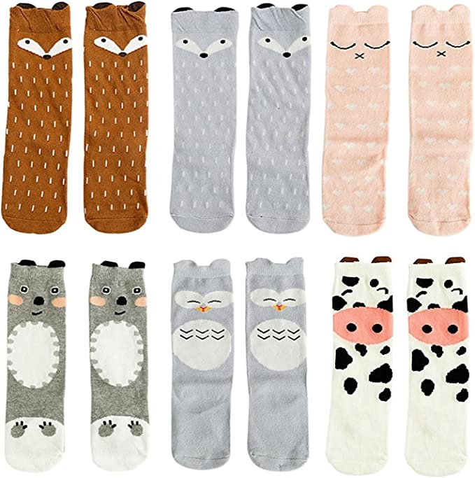 Gray Bear for Age 0-1 Baby Kids Toddlers Girls Knee High Socks Tights Leg Warmer Stockings