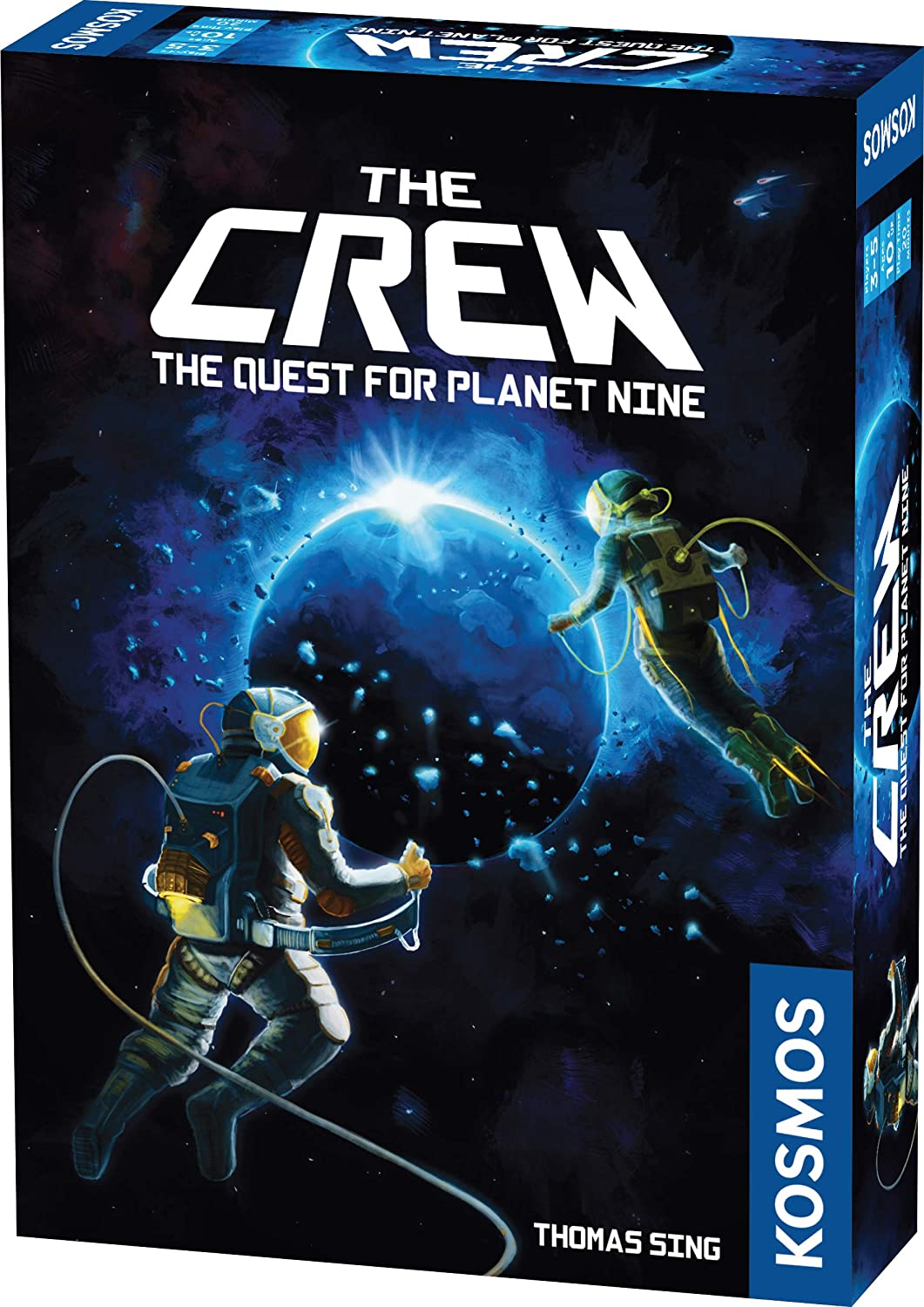 The Crew   A Cooperative Space Adventure Card Game for 3 to 5 Players  A Kosmos Game   Embark on 50 Missions as a Team in Your Quest for Planet Nine   Ages 10 and up   Trick-Taking Game