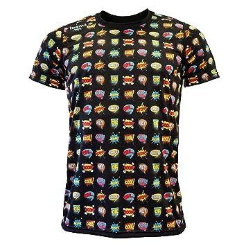 Luanvi Edición Limitada Camiseta técnica cómic, Hombre, Negro, XL (56-73cm): Amazon.es: Deportes y aire libre