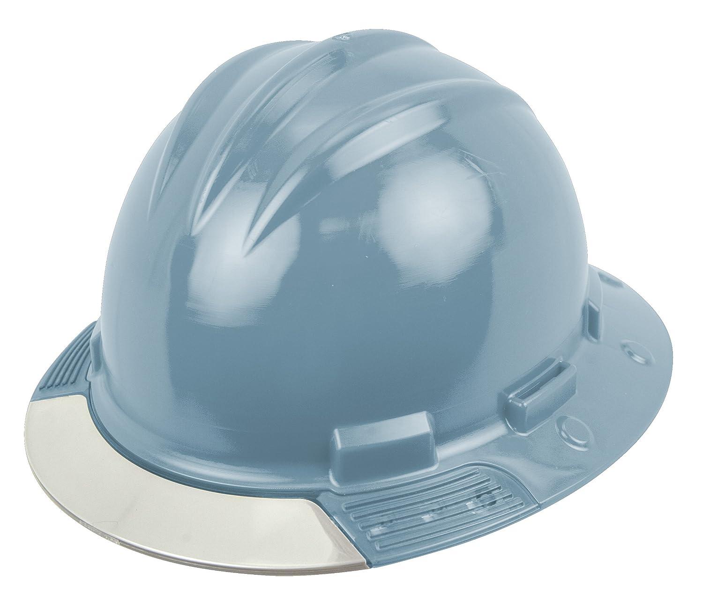 One Size Bullard AVSLRC  Above View Hard Hat Slate Blue Cotton Brow Pad Ratchet Suspension Clear Visor