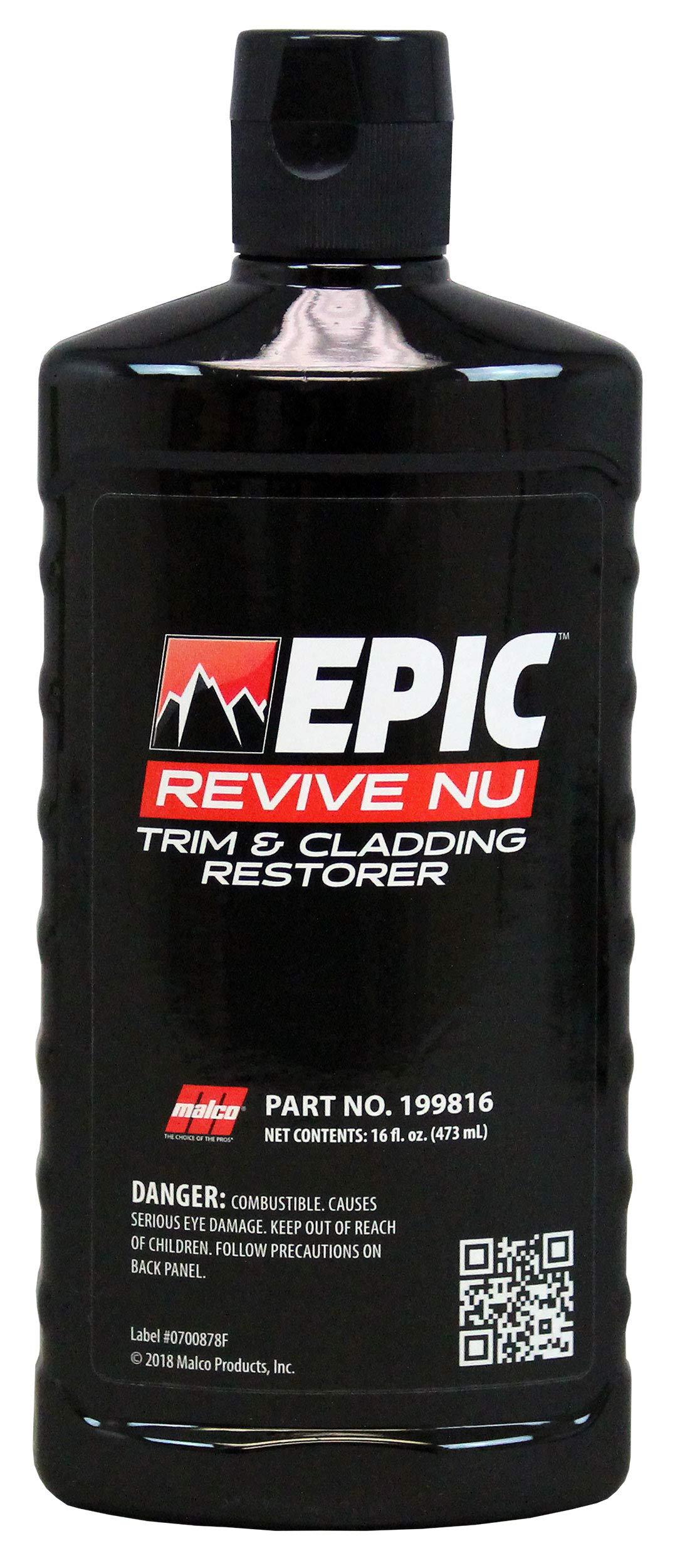 Malco Epic Revive Nu Plastic Trim & Cladding Restorer, 16 oz. (199816)