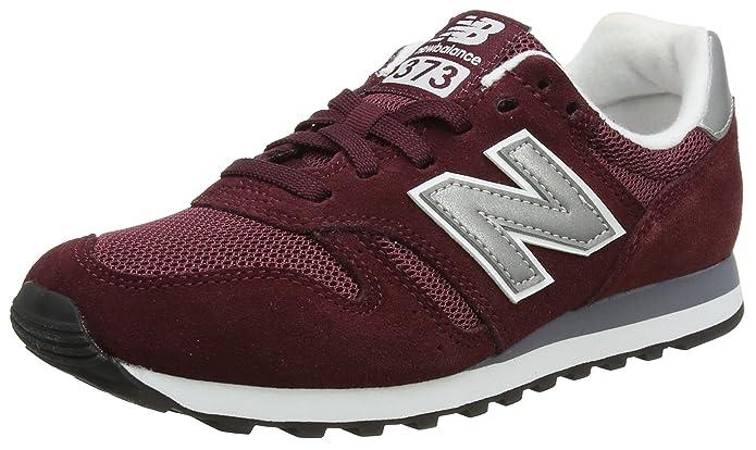 New Balance 373 Core Sneakers Herren Burgunder Rot/Silber (Burgundy/Silver)