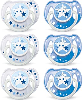 Philips AVENT BPA Free Night Time Pacifier, 6-18 Months, 6 ...