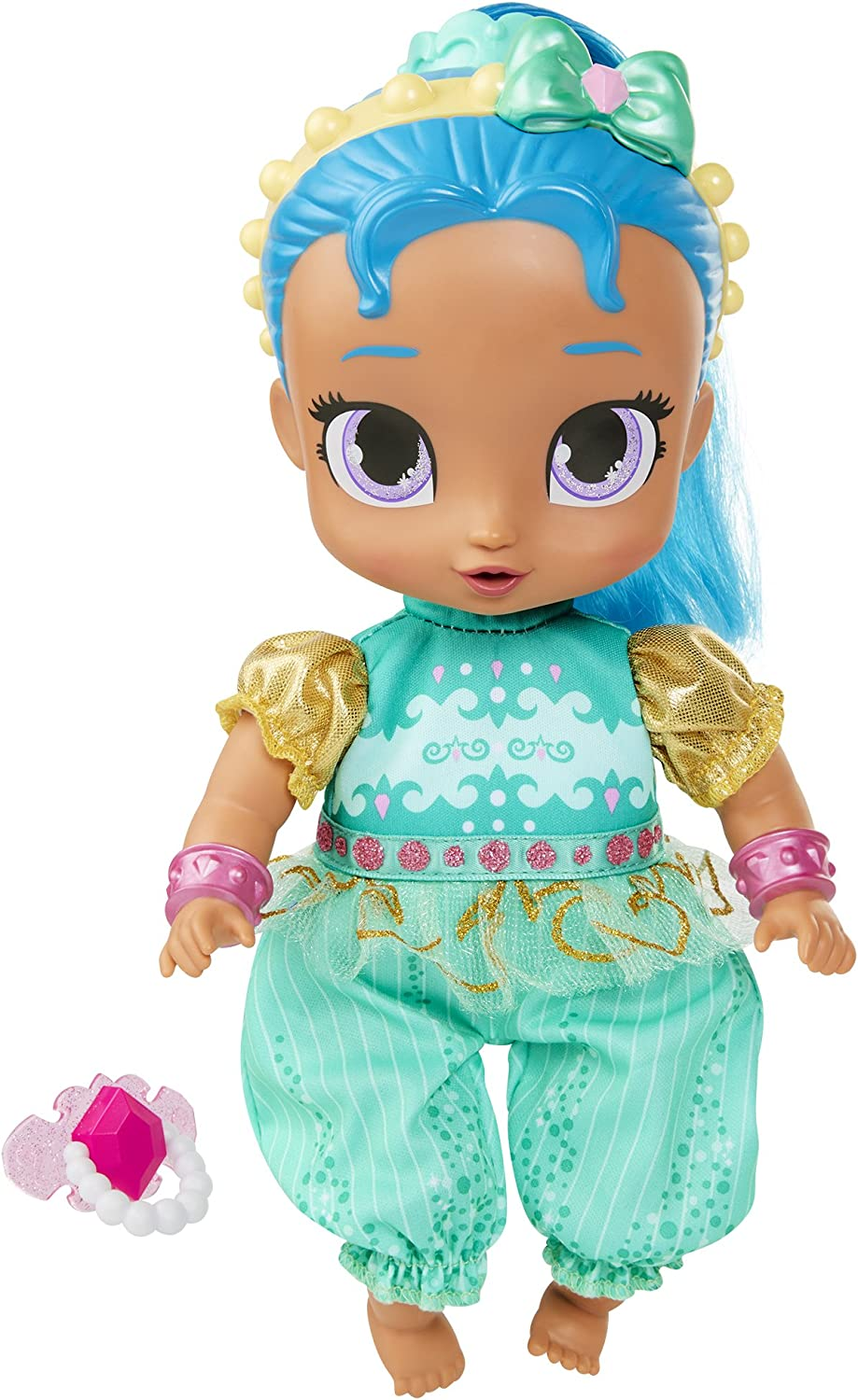 """Shimmer and Shine Genie Babies 10.5"""" Shine Baby Doll"""