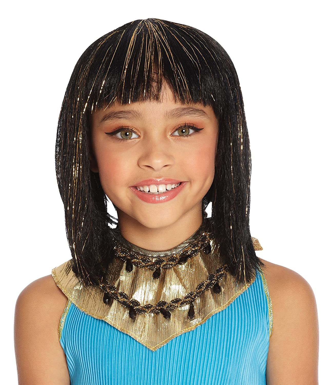 Mario Chiodo Girl's Cleopatra Wig Egyptian Theme Party Child Halloween Accessory