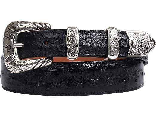 Amazon.com: Lucchese - Cinturón de piel de avestruz para ...