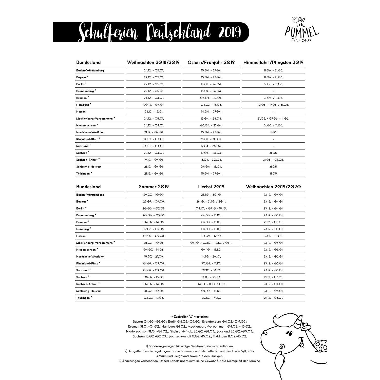 Pummeleinhorn Wandkalender 2019 Groß 31 5 X 43 6 Cm