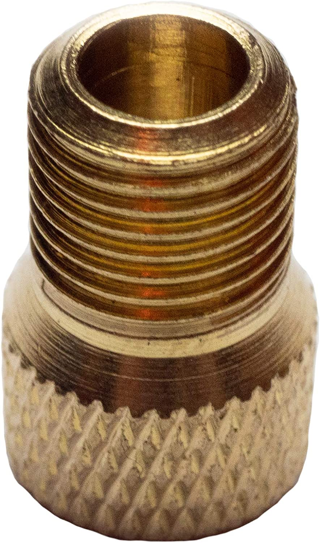 Dichtring Fahrrad Ventil Adapter vom Fahrradventil inkl Schraderventil Eva Shop/® 5er Set Premium Ventiladapter aus Messing Versand aus BRD auf Autoventil Dunlopventil oder Sclaverandventil