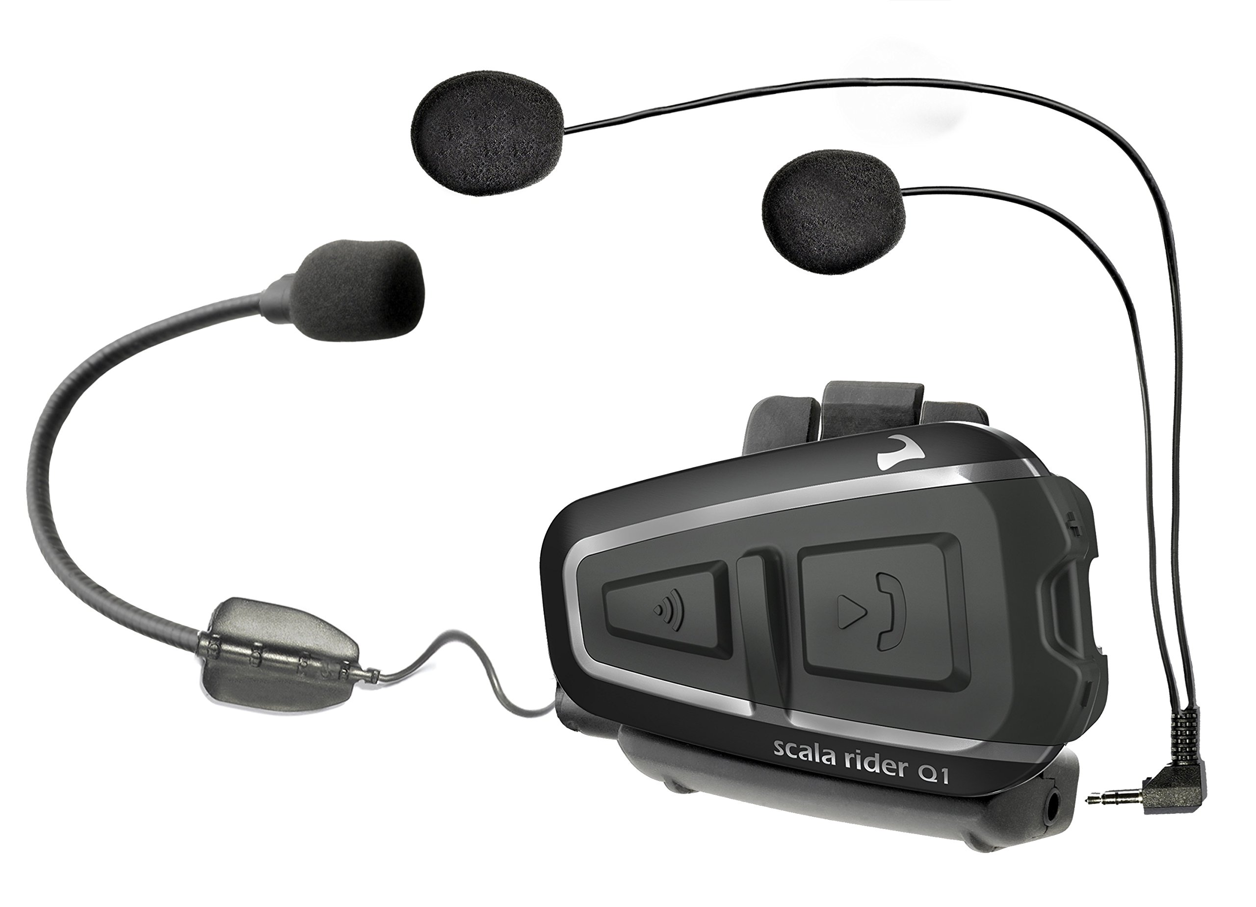 Cardo scala rider Q1 Bluetooth Motorcycle Headset and Rider-to-Passenger Communication System, Single Pack (Discontinued by Manufacturer)