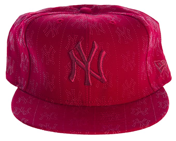 257d1e2a53b7e Image Unavailable. Image not available for. Color  New Era 59FIFTY New York  Yankees Stitched Hat Sz 7 3 8 Red
