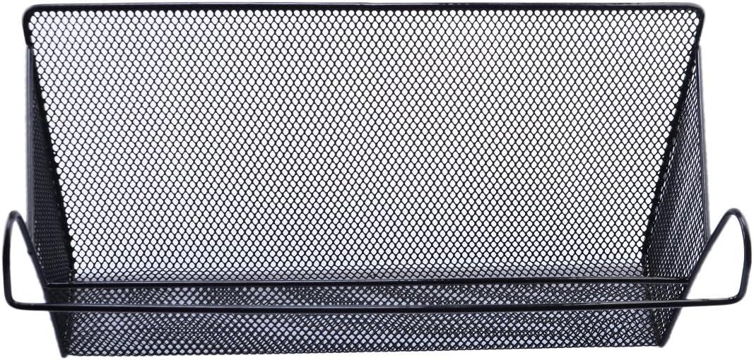 Eisen H/ängekorb f/ür Office Home Nachttisch Rolanli Aufbewahrungskorb f/ür Nachttisch Wei/ß//Schwarz multifunktional Schwarz aus Metall 39 * 10 * 18cm