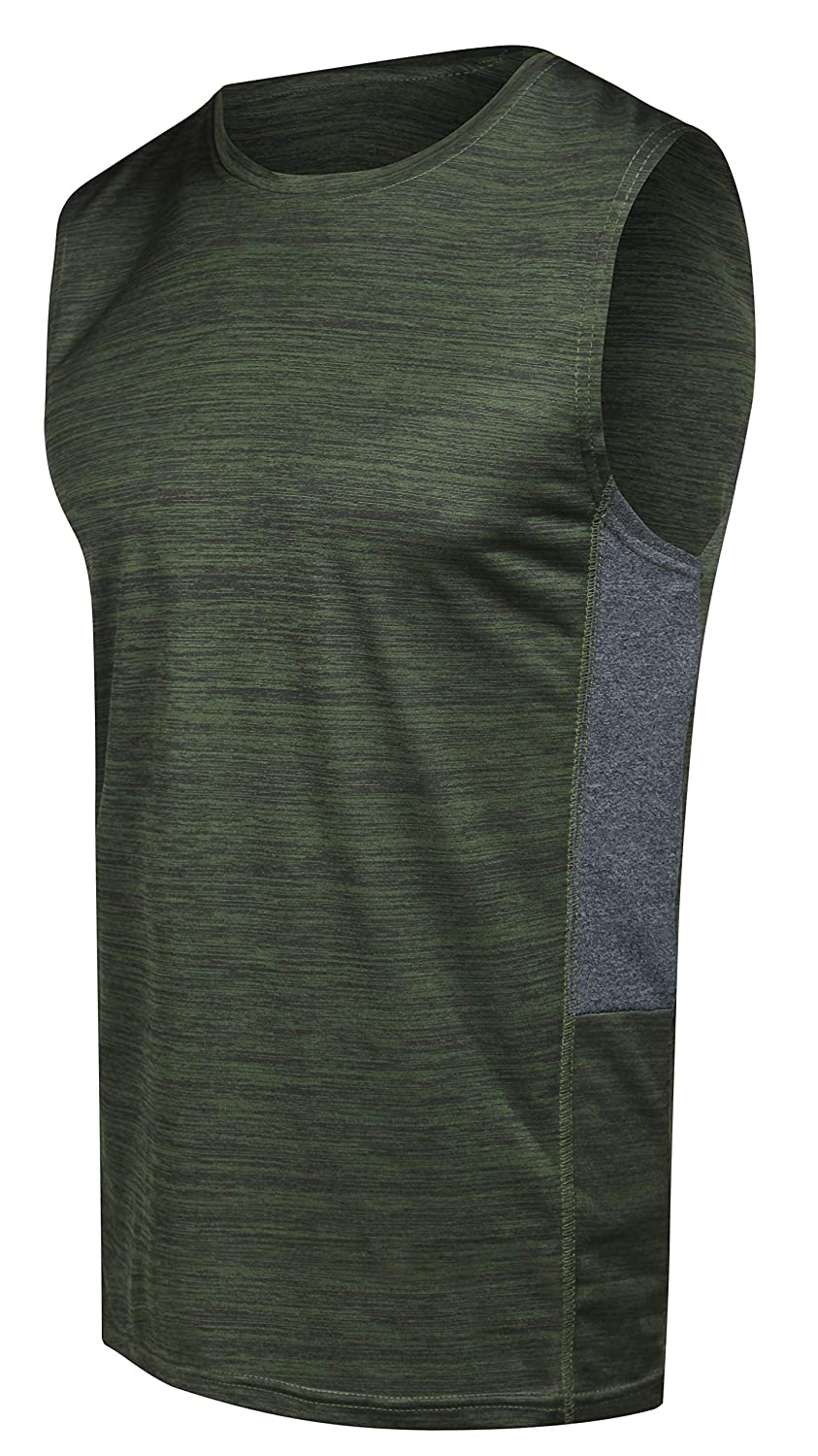 Mens Dry-Fit Active Athletic Tech Tank Top Workout /& Training Activewear 5 Pack