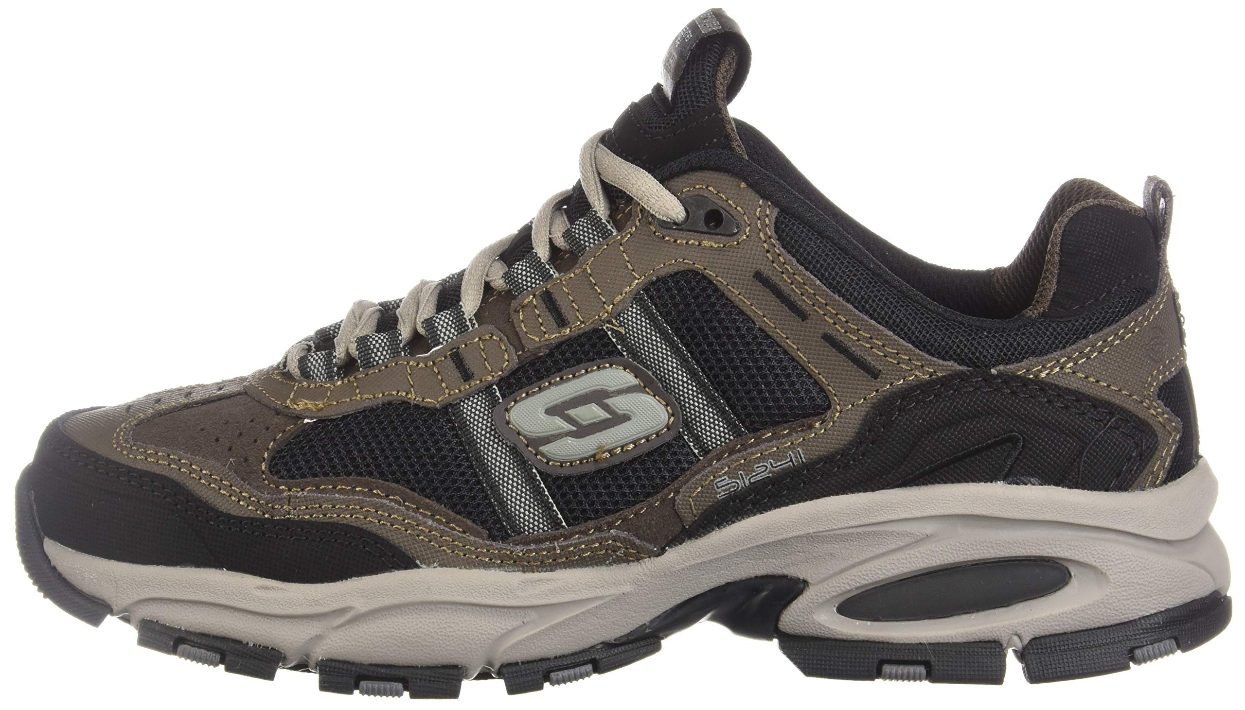 Skechers Sport Men's Vigor 2.0 Trait Memory Foam Sneaker, Brown/Black, 7 M US by Skechers (Image #5)