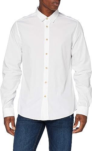 Springfield Camisa Fil Franq-c/99 Casual, Blanco - Hombre
