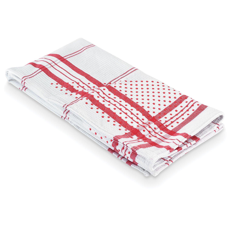 Polder KTH-3435-952 Grip-Dry Dish Towel, 20 x 27 Size, Black Stripes, Set of 2 Towels 20 x 27 Size