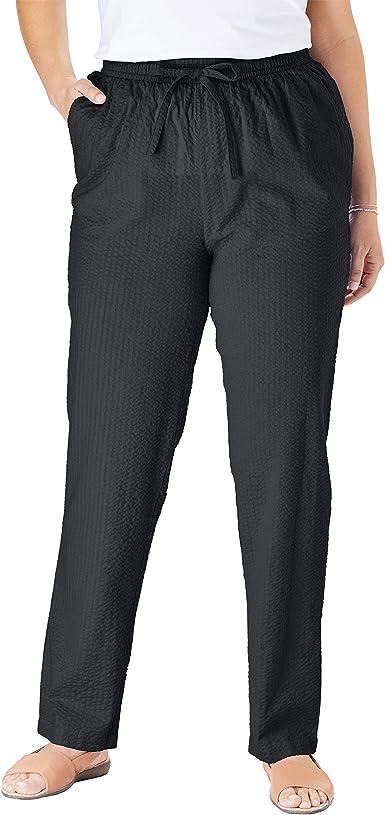 Woman Within Women S Plus Size Seersucker Pant At Amazon Women S