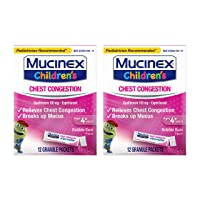 Chest Congestion, Mucinex Children's Mini Melts, Chest Congestion, Bubble Gum, 24ct (2x12ct)