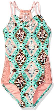 d540699ec6 Amazon.com: Gossip Girl Big Aztec Harvest One Piece Swimsuit: Clothing