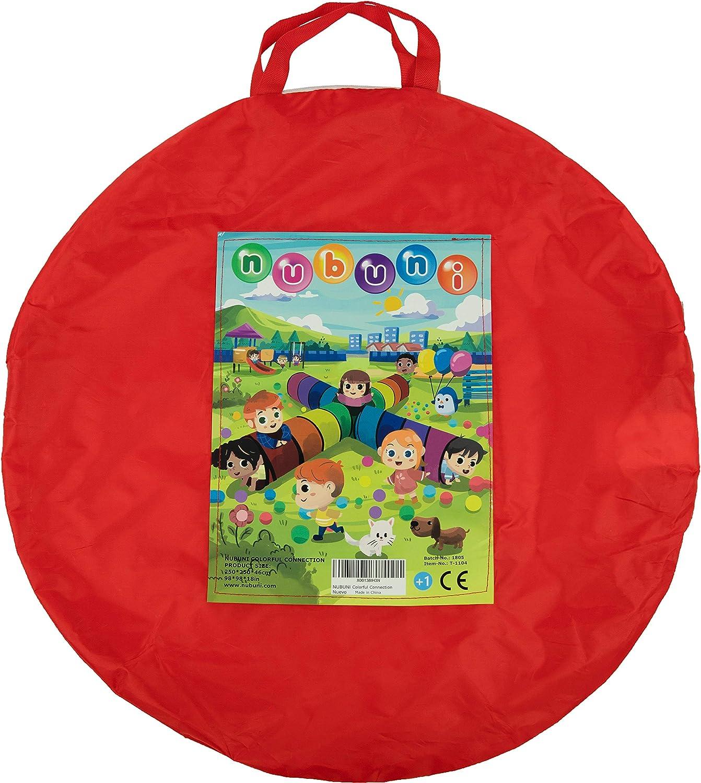 NUBUNI 3 en 1 Tente de Jeu pour Enfants Maison et Tunnel Tente Igloo Pop Up Tunnel Tente Piscine /à Boules avec Tunnel Maison de Jouet et Piscine Facile Pliant