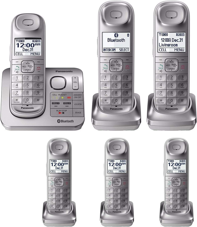 Panasonic kx-tgl463s link2cell Bluetooth inalámbrico 6 Terminales w/ contestador automático: Amazon.es: Electrónica
