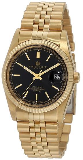Charles Hubert, Paris 3635-GB - Reloj de Pulsera Hombre, Color Oro: Amazon.es: Relojes