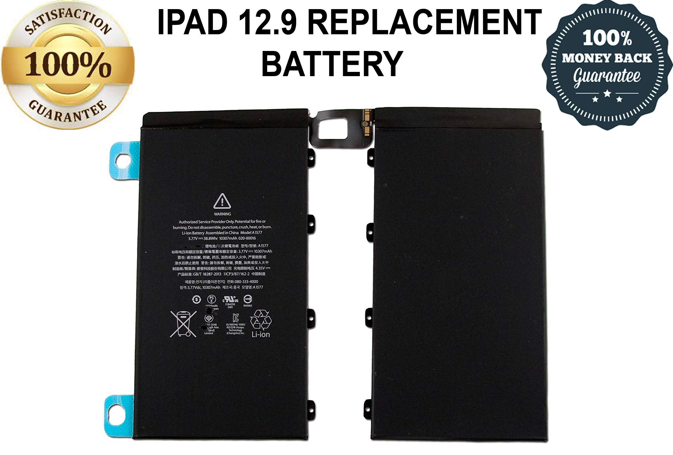 LONGLIFE 10315mAh A1577 Battery Replacement for iPad Pro 12.9 A1584, A1652 by Long Life