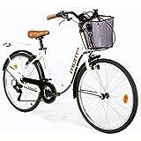 """Moma Bikes Paseo Citybike Shimano. Aluminio, 18 Velocidades, Ruedas de 26"""" Bicicleta, Unisex Adulto"""