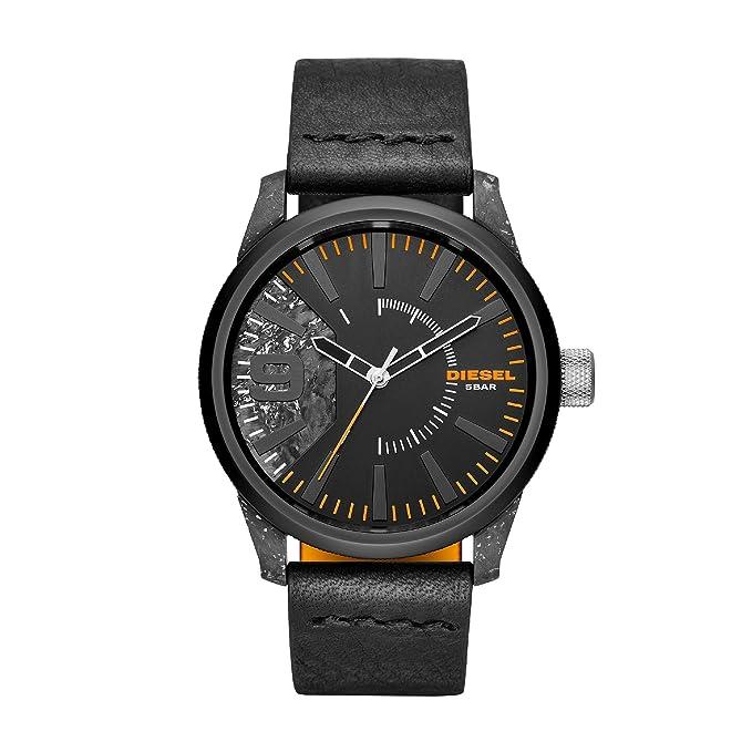 Diesel Reloj Analogico para Hombre de Cuarzo con Correa en Cuero DZ1845: Amazon.es: Relojes