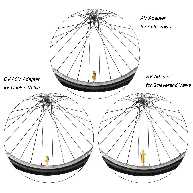 Ball Pump AV SV DV Bike Filling Station Yizhet Bicycle Air Pump Inflation Needle Nozzle Adapter Kit Car Valve//Flash Valve//Slave Valve for Compressor Bicycle Pump//Floor Pump Air Mattress